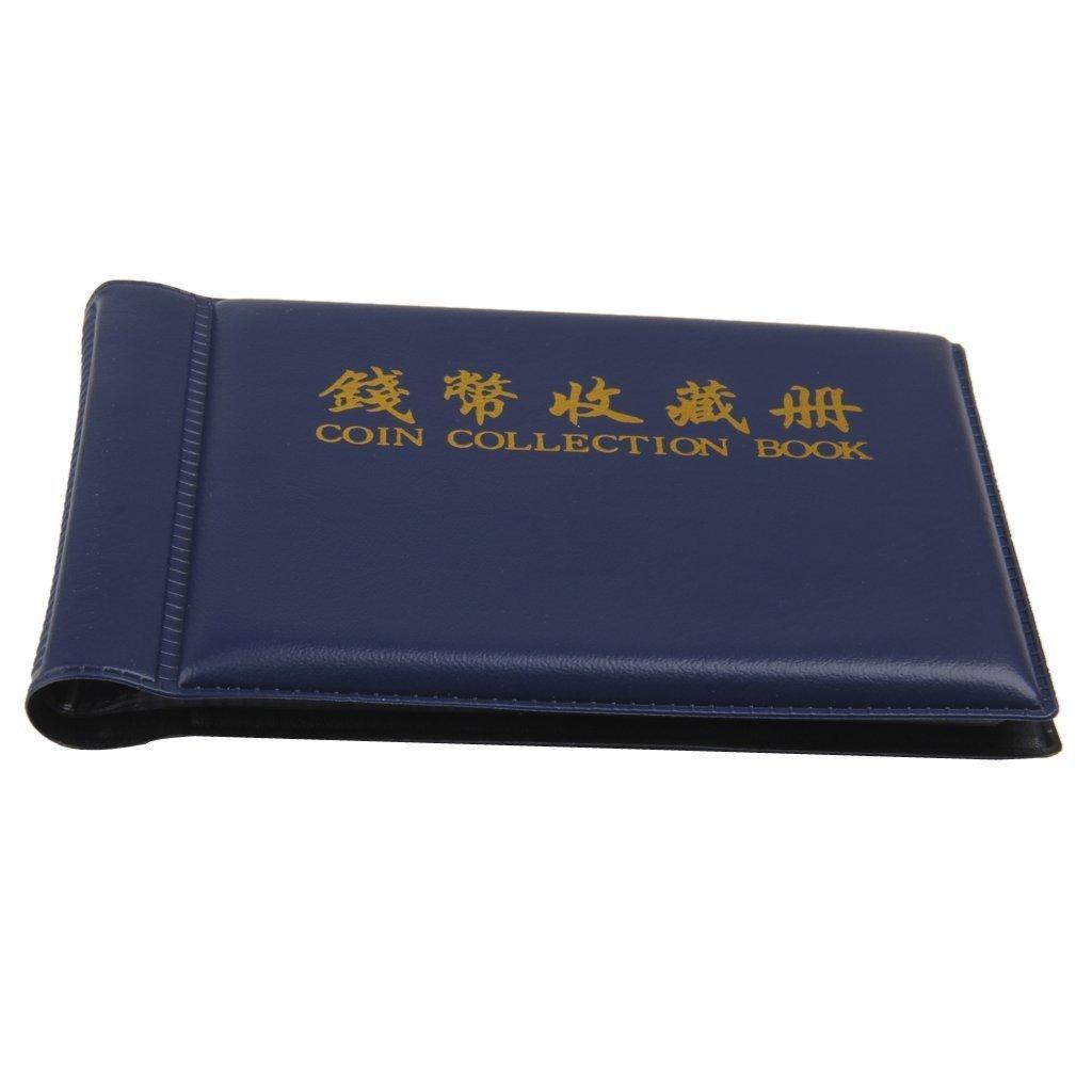 Bleu Yeah67886/Portable numismates collectionner Album 60/guides de Album pour pi/èces de monnaie