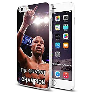 Floyd Mayweather The Greatest Champion, Boxing, Boxer,Cool iphone 4 4s Smartphone Case Cover Collector iphone TPU Rubber Case White