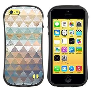 "Hypernova Slim Fit Dual Barniz Protector Caso Case Funda Para Apple iPhone 5C [Patrón Polígono trullo Naturaleza Pastel Agua""]"