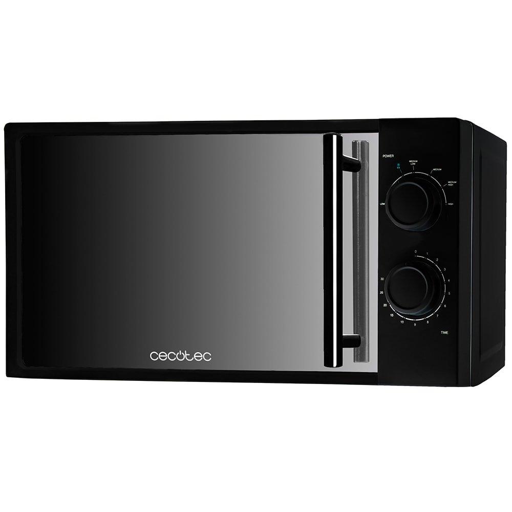Cecotec AllBlack Microondas con Frontal de Espejo, Negro product image