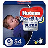 HUGGIES OVERNITES, Night Time, Baby Diapers, Size 6, 54ct