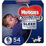 HUGGIES OverNites Diapers, Size 6, 54 ct., GIGA JR Overnight Diapers (Packaging May Vary)