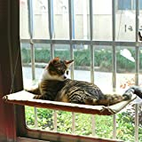 Cat Window Perch - Stronger Suction Cup and Stainless Cable - Space Saving Cat Hammock Pet Resting Seat Safety Cat Shelves