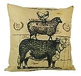 UniikStuff Farm Life | Pillow Cover | 18 x 18 | Home Decor | Primitive Decor | Farmhouse | Rustic Farmhouse Pillow | Stacked Animals | Modern Farmhouse