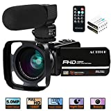 Camcorder Video Camera,ACTITOP 1080P 30FPS IR Night Vision YouTube Vlog Camera 16X Digital