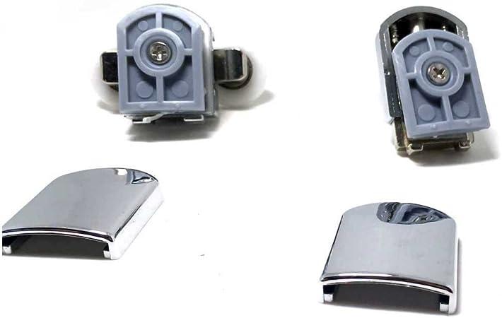 Juego de 8 ruedas para puerta de ducha, aleación de cinc: Amazon.es: Electrónica