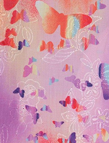 ridgette V-Neck Embroidered Floral Print Scrub Top Medium Print ()