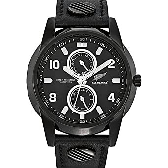 All Blacks Herren-Armbanduhr Analog Quarz Schwarz 680102
