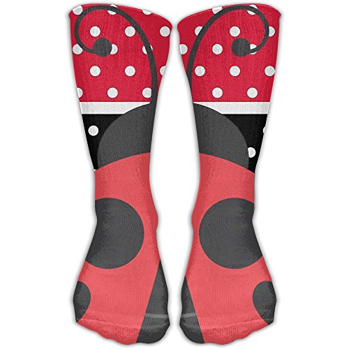 Unisex Classics Socks Red And Black Stripe Speckle Ladybirds Athletic Stockings 30cm Long Sock One Size