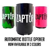 zap cap bottle opener - Zaptop Automatic Beer Bottle Opener with Magnetic Cap Catcher - Opens Bottles Instantly - Black