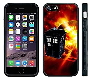 Apple iPhone 6 Black Rubber Silicone Case - Tardis #6 Call Box Dr. Who Phone Booth Science Kimberly Kurzendoerfer