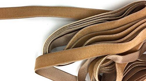 5/8'' Silk Velvet Beige Ribbon Satin Back Beige 46 Color Made in Swiss 975n 5 Ydards