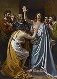 François-Joseph Navez - The Incredulity of Saint Thomas, Size 18x24 inch, Canvas art print wall décor