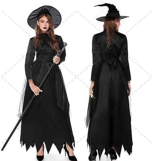 MJ-Brand Disfraz de Diablo Negro de Halloween - Disfraz de Bruja ...