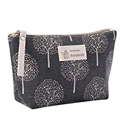 Cotton Linen Large Capacity Makeup Bag M...