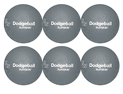 RuffSKIN 6'' Gray Dodgeball-Set of 6 by Palos Sports