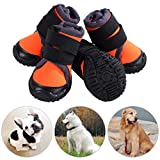 JunBo Breathable Dog Shoes Pet Paw Protector Anti-skid and Waterproof Dog Boots for Outdoor Activities (Size M)