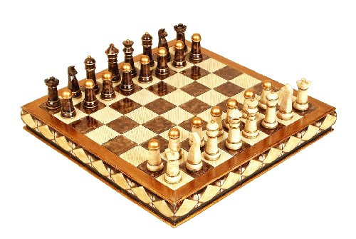 Deco 79 Polystone Chess Set, 17-Inch by 5-Inch, Set of ()