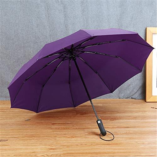 - JISHIYUAN Men Gentle Folding Compact Fully Automatic Rain Pongee Umbrellas Purple