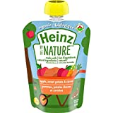Heinz by Nature Organic Baby Food - Apple, Sweet Potato & Carrot Purée - 128mL Pouch (Pack of 6)