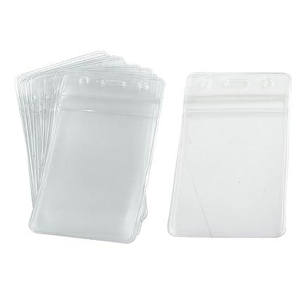 10 Piezas Plástico Suave Vertical Negocio tarjeta identificador Titulares De La Tarjeta De Identificación