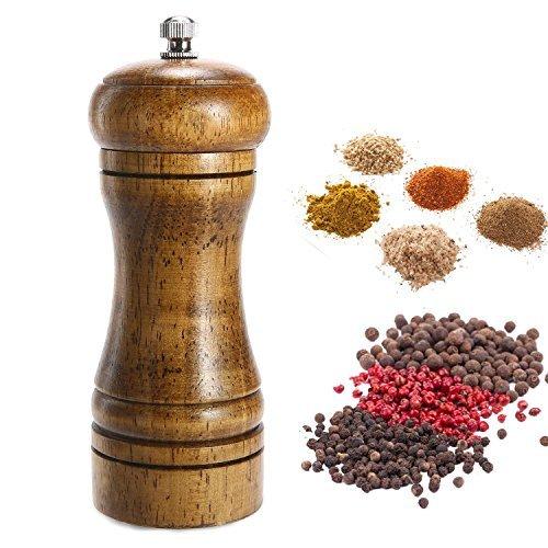 (Aolvo Grind Gourmet Salt And Pepper Grinder Set Professional Chef Standard Ceramic Mechanism Suitable For Granular Ingredients, Black Pepper, Sea Salt and Himalayan Salt, Pepper Spice And Salt)