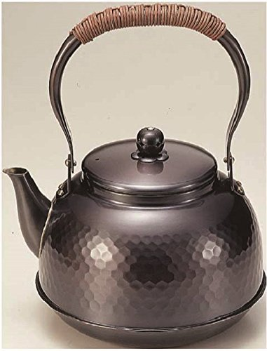 Pure copper kettle 2.3L Tsuchime black copper finish BC-7 by Shinkodo