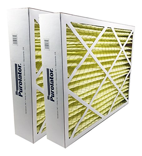 "Sur-Seal P25-16X25X5X2 P25 Purolator High End Filter, Replacement for Honeywell F25, 16"" x 25"" x 5"" (Pack of 2)"