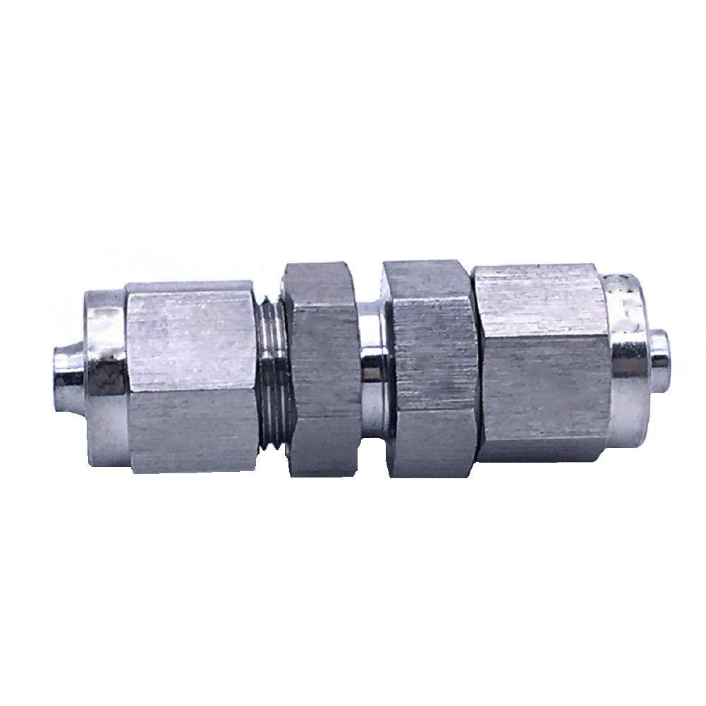Beduan 304 Stainless Steel Bulkhead Union Compression Fitting 1//2 OD