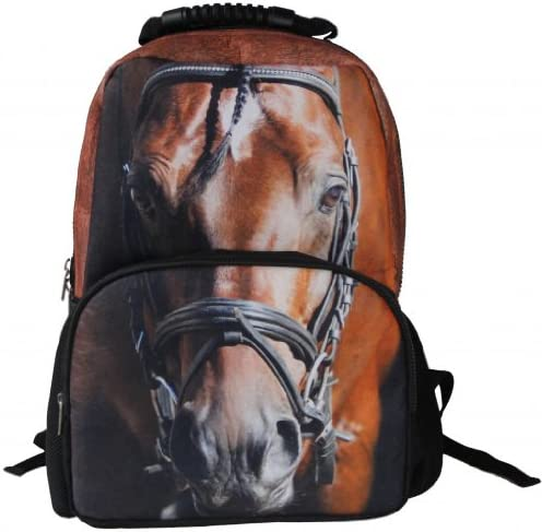 Animal Face 3D Animals horse Backpack 3D Deep Stereographic Felt Fabric