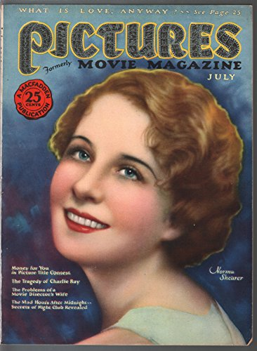 Norma Mag - Pictures 7/1926-MacFadden-Norma Shearer-Ghost Stories pulp mag-silent film-FN/VF