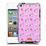 ice cream case for ipod 4 - Official Emoji Ice Cream Pattern Pastel Unicorns Hard Back Case for Apple iPod Touch 4G 4th Gen