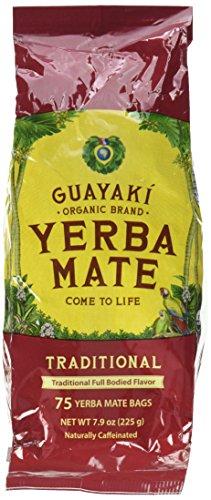 Guayaki Traditional Organic Mate Tea, 7.9oz (225g), 75 Tea Bags