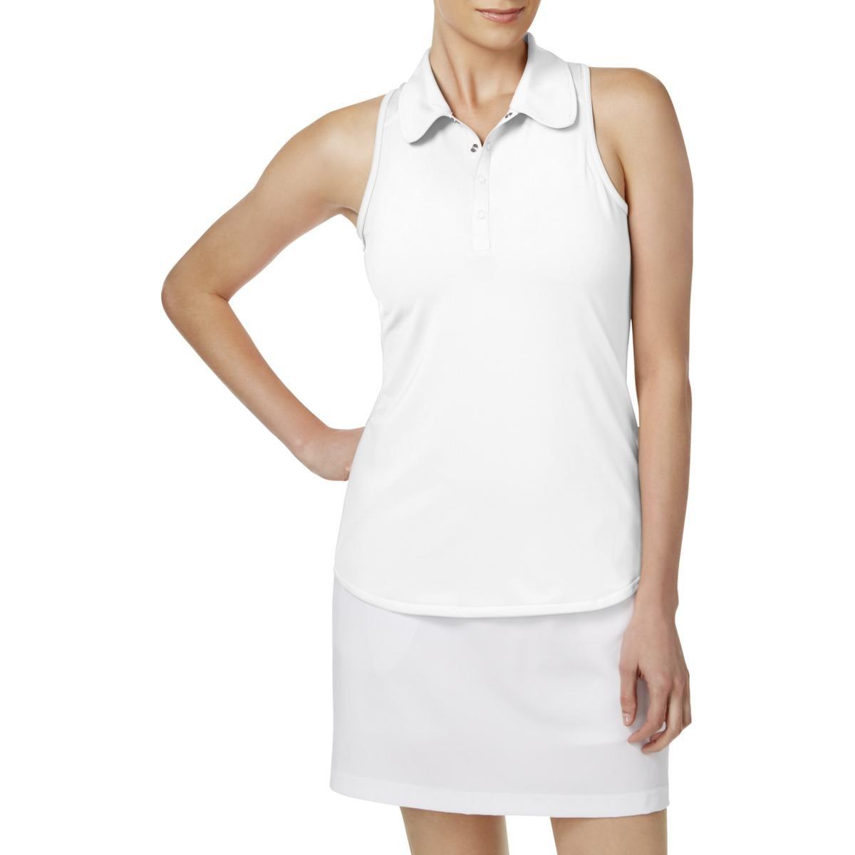 Ideology Womens Sleeveless Golf Polo White S