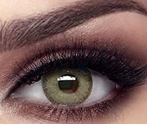 Bella Gray Olive Contact Lenses, -6 power