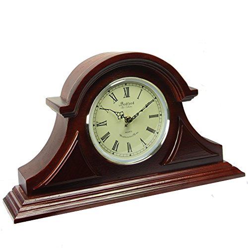 Fireplace Clock (Clock Collection Redwood Mantel Clock with Chime)