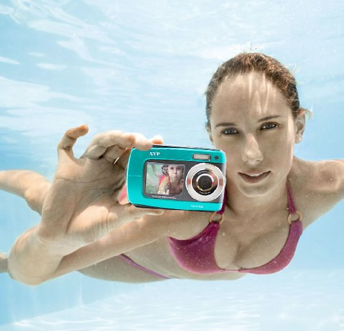 SVP Aqua 5500 (Blue) 18 MP Dual Screen Waterproof Digital Camera by SVP (Image #3)