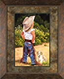 Boss Lady June Dudley 20x26 Gallery Quality Framed Art Print Western Children Cowgirl Kids Picture
