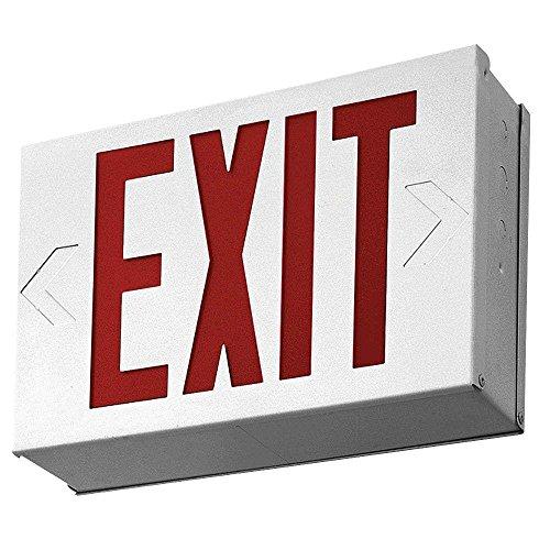 Lithonia Lighting LX W 3 R 4W LED Exit Sign, White