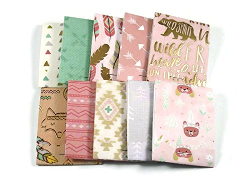 20 Matchbook Notepads Party Favors in Little Wildflower (Wildflower Baby Shower Favors)