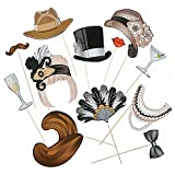 Fun Express - 1920s Photo Stick Props for Party - Apparel Accessories