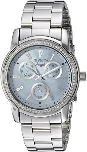 Invicta Women's 'Elite Diamond' Quartz Stainless Steel Casual Watch, Color:Silver-Toned (Model: 22680)