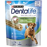 Purina DentaLife Daily Oral Care Large Dog Treats 7.4 oz. Pouch, Pack of 4