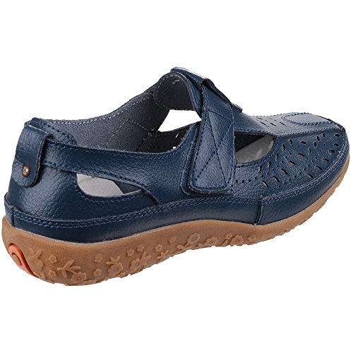 Fleet And Foster Womens/Ladies Pinot Summer Velcro Shoes Navy