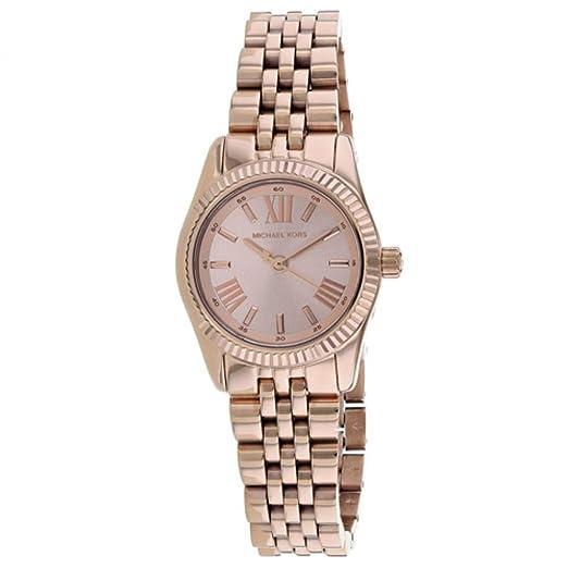 Michael Kors Petite Lexington Reloj de Mujer Cuarzo 26mm MK3875: Amazon.es: Relojes
