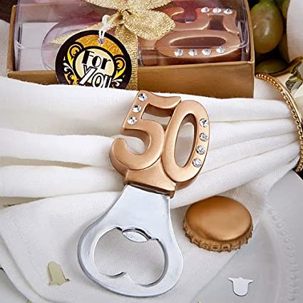 Fashioncraft 50th design gold metal key chain from
