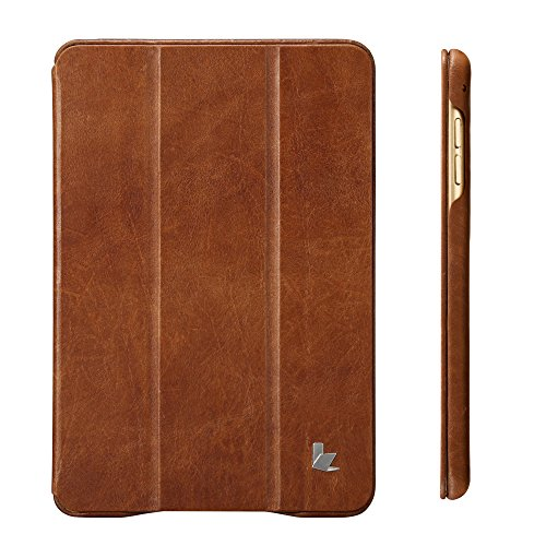 Jisoncase iPad Mini 4 Case, Leather Ultra Slim Smart-shell Stand Cover Case With Auto Wake/Sleep for Apple iPad Mini 4 (JS-IM4-01A) (Vintage Brown) by Jisoncase (Image #1)
