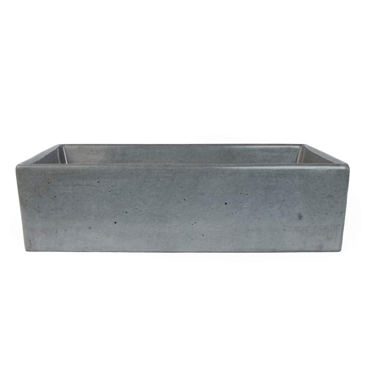 Rectangle Design Handmade Concretti Designs Concrete Vessel Sink Vegas 60