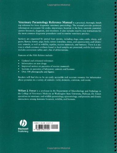Veterinary Parasitology: Reference Manual