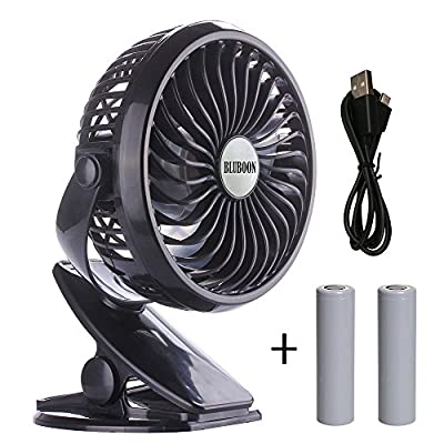 BLUBOON Clip on Fan Battery Operated Fan Portable for Baby Stroller 5""
